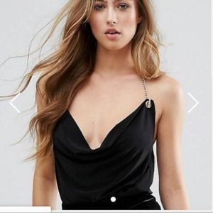 NEW MISSGUIDED CHAIN HALTER TOP TANK